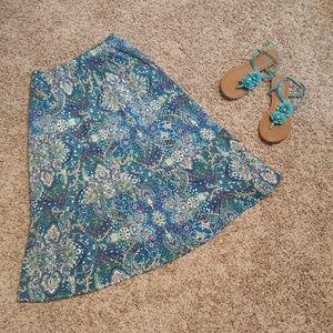 Flowy peasant-style skirt